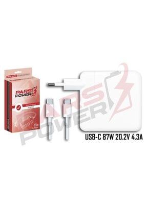 """ParsPower Apple Macbook 15"""" Usb-c 87w A1719 Adaptör Şarj Aleti-cihazı"""