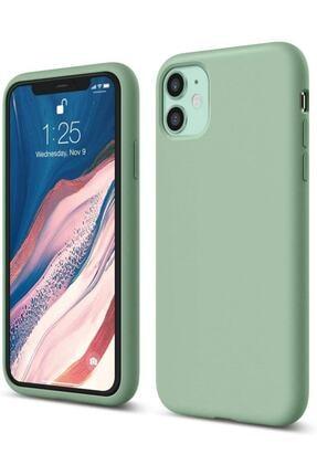 """Sunix Iphone 11 6.1"""" Lansman Silikon Kılıf Mint Yeşili"""