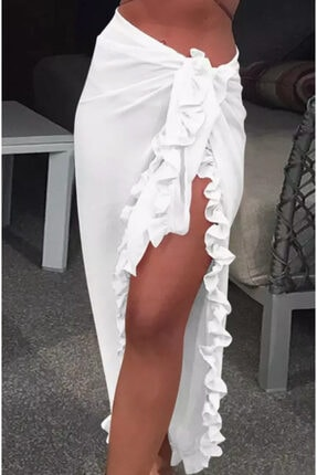 angel stayl Kadın Beyaz Pareo