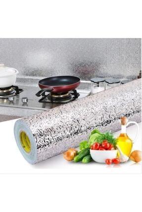MATMAZELŞHOP Yapışkanlı Kolay Silinebilir Mutfak Tezgah Üstü Folyo Gümüş 10 Metre