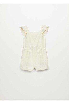 MANGO Baby Kız Bebek Fırfırlı Çizgili Tulum