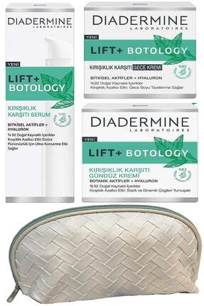 Diadermine Lift+ Botology Kırışık Karşıtı Gündüz + Gece Kremi + Serum + çanta
