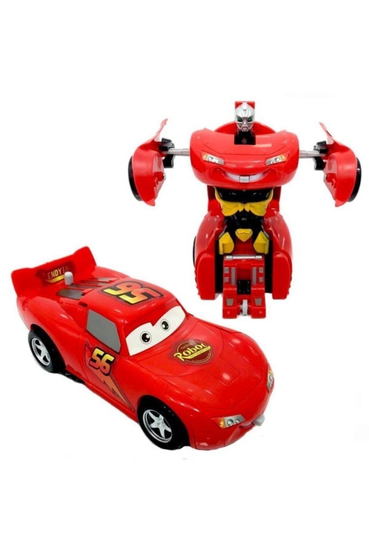 AKÇİÇEK OYUNCAK Şimşek Mcqueen Robota Dönüşebilen Araba 1