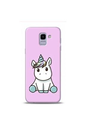 EXCLUSIVE Samsung Galaxy J6 Cutie Unicorn Desenli Telefon Kılıfı