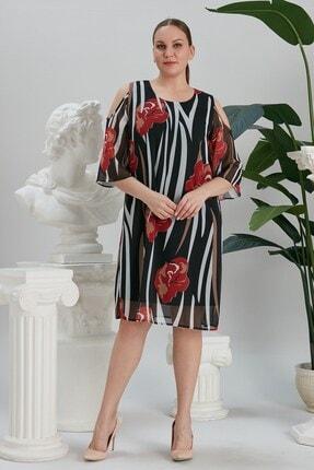 RMG Kadın  Siyah Şifon Elbise