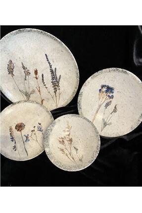 Porland Alumılıte E Dry Flower 24 Parça 6 Kişilik Yemek Takımı
