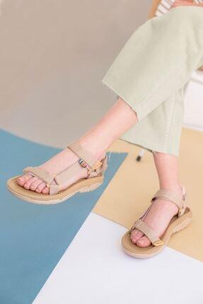 yesh Kadın Vizon Cırt Cırtlı Spor Sandalet