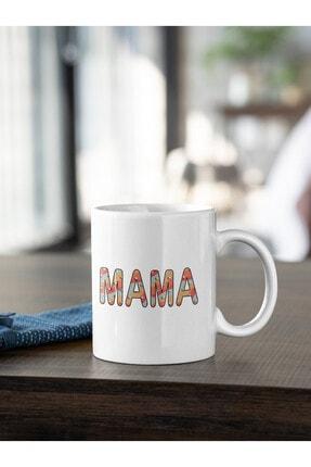 Kio Kupa Yaşam Tarzı Mama Anne 2 Yazı Baskılı Kupa Beyaz Porselen Mug