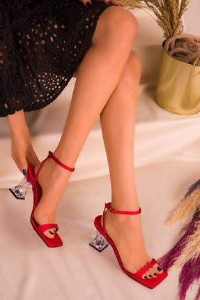 SOHO Kırmızı Saten Kadın Klasik Topuklu Ayakkabı 15916