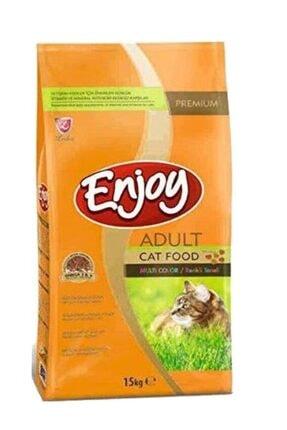 Enjoy Multicolor Renkli Gurme Kedi Maması 15 Kg