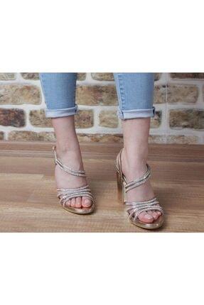 Pierre Cardin Kadın Gold Topuklu Abiye Ayakkabı pc-50018