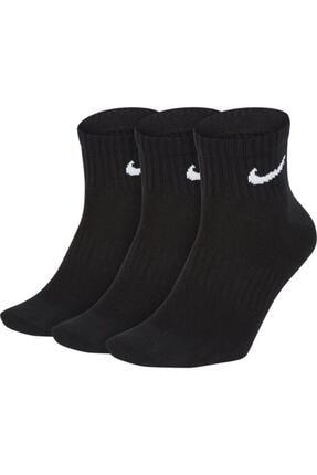 Nike Unisex Siyah Çorap  U Nk Everyday Ltwt Ankle 3pr  Sx7677-010