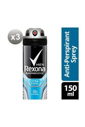 Rexona Erkek Deodorant Sprey Xtra Cool 150 ml X3