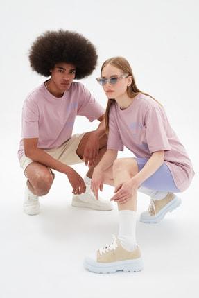TRENDYOL MAN Gül Kurusu Unisex Regular Fit T-Shirt TMNSS21TS3360