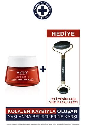 Vichy Liftactiv Collagen Specialist 50 ml Yeşim Taşı Jade Roller Hediyeli