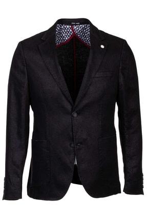 Mcr Siyah Keten Basıc Ceket