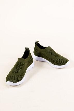 RAHATADIMLAR Kadın Yeşil Triko Sneaker