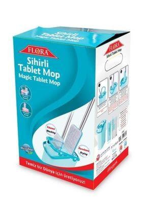 Flora Sihirli Tablet Mop Kova Seti Yeni Nesil Temizlik (turkuaz) + 3 Yedek