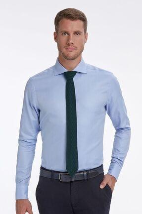 Hemington Erkek  Mavi İtalyan Yaka Gömlek