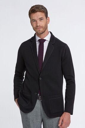 Hemington Erkek Siyah Extrafine Merino Çift Yönlü Triko Ceket