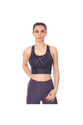 Nike Kadın Mor Swoosh Icon Clash Spor Sütyeni Cz7208-573 Dri-fıt