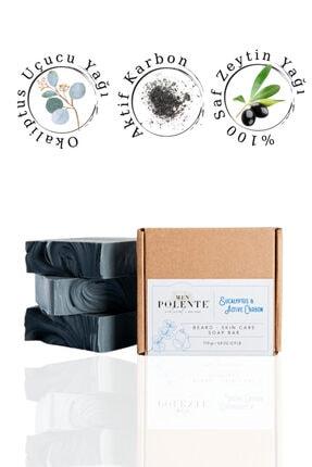 Polente Natural Okaliptus Ve Aktif Karbon Sabunu Cilt Ve Sakal Bakımı