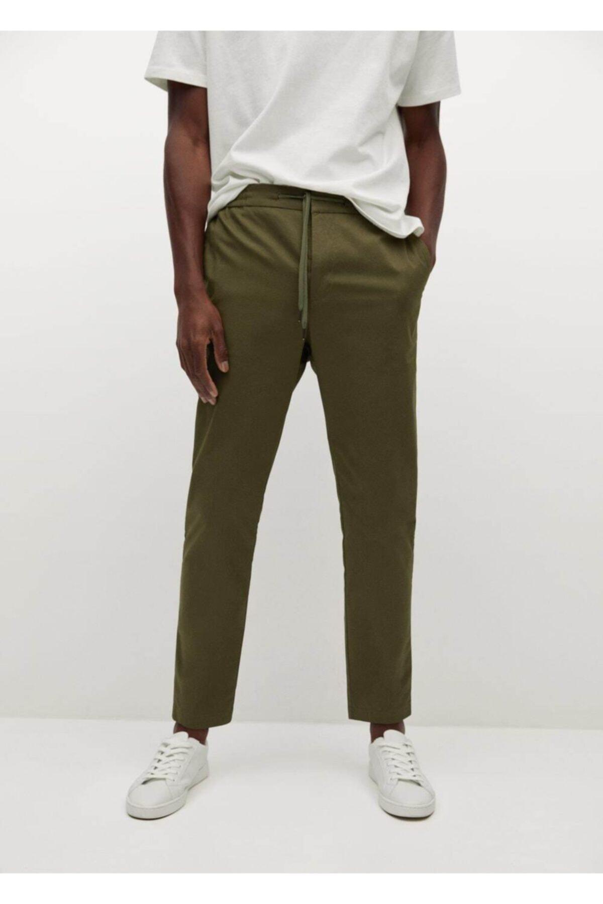 MANGO Man Jogger Tarz Pamuklu Pantolon 1