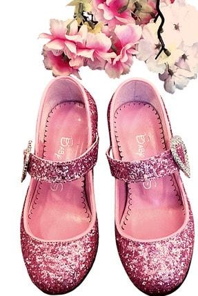 Baby DS Kız Çocuk Pembe Topuklu Ayakkabı 26