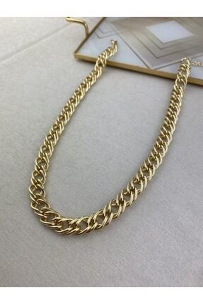 Accessorize My-takıntı Gold Örgü Kolye