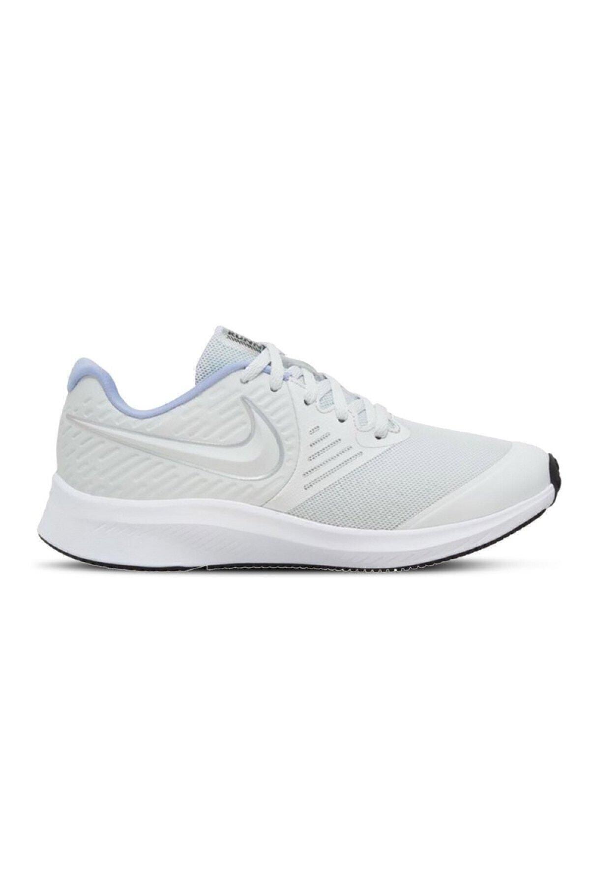 Nike Unisex Beyaz Star Runner 2 Ayakkabı Aq3542-007 1