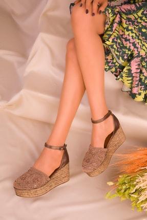 SOHO Bakır Kadın Dolgu Topuklu Ayakkabı 16041
