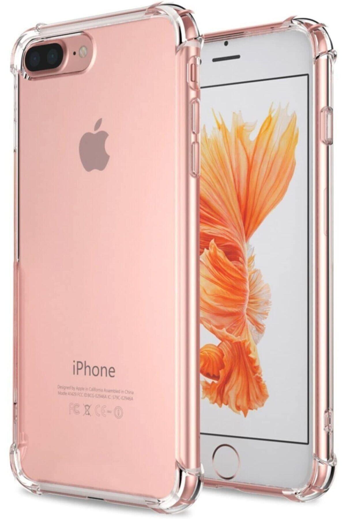 Teknoçeri Iphone 7 Plus / 8 Plus Şok Darbe Emici Şeffaf Silikon Kılıf 1