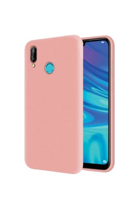 Meta Aksesuar Huawei Y7 2019 Iç Yüzeyi Kadife Dışı Yumuşak Dokulu Pembe Lansman Kılıf