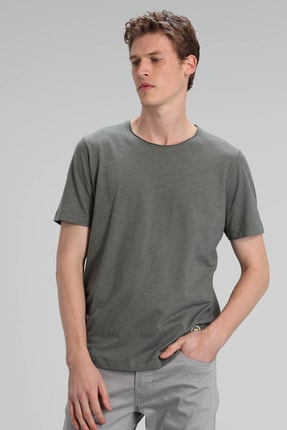 Lufian Junya Modern Grafik T- Shirt Haki