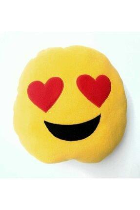 HENO BUTİK Kalp Gözlü Peluş Emoji Yastık