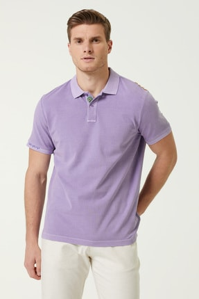 Network Erkek Comfort Fit Lila Polo Yaka T-shirt 1078122