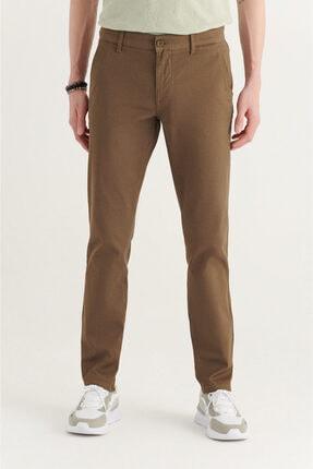 Avva Erkek Haki Yandan Cepli Armürlü Slim Fit Pantolon A11y3036