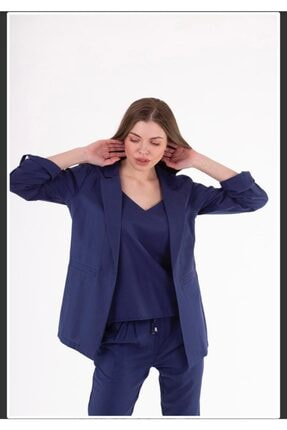 STAMINA Kadın Lacivert Uzun Kollu Ceket