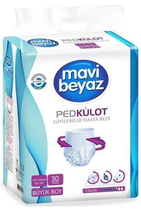 Mavi beyaz Ped Külot Large Beden Hasta Bezi 30'lu Paket