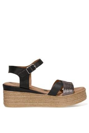 İnci LERI.Z 1FX Antrasit Kadın Dolgu Topuklu Sandalet 101038319