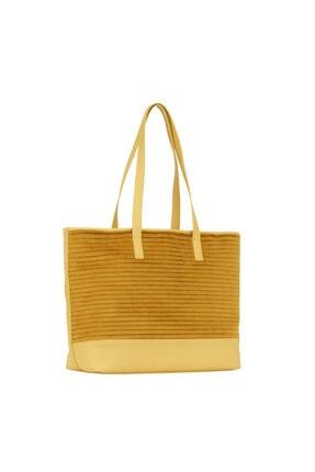 GERBAS Kadın  Sarı Patıl Cıtron Shopper