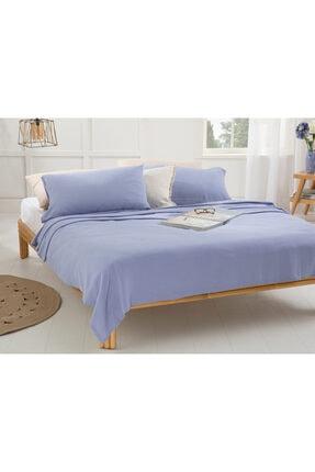 English Home Cool Stripe Soft Touch King Size Pike Seti 220x240 Cm Ortanca