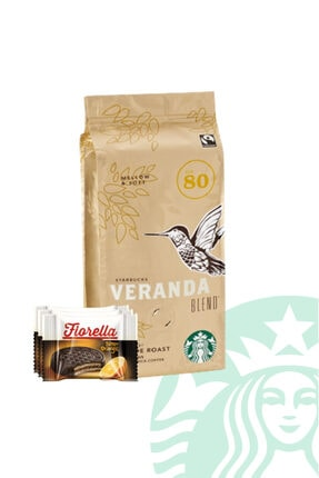 Starbucks Çekirdek Kahve Veranda Blend Blonde Roast 250 gr + Fiorella Crunch x3