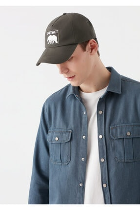 Mavi Instinct Baskılı Haki Şapka