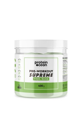 Proteinocean Pre-workout Supreme™ Yeşil Elma 400g - 25 Servis