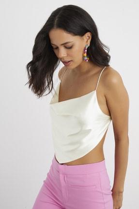 Cool & Sexy Kadın Taş Bandana Crop Bluz SF1255