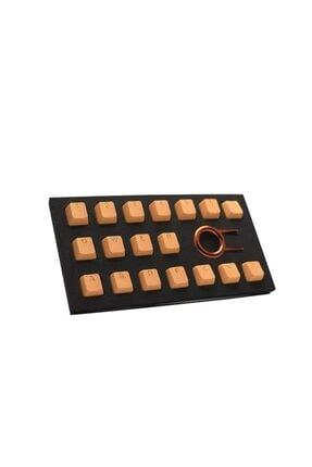 Tai-Hao Ürünler Rubber Gaming Aydınlatmalı Keycaps Set - 18 Keys Rubberized Doubleshot