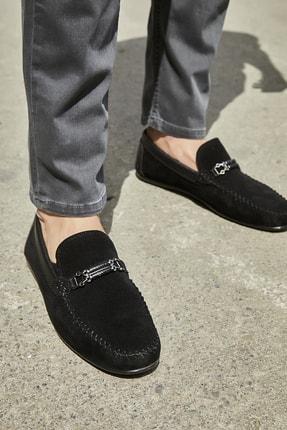 Sateen Men Erkek Siyah Tokalı Süet Ayakkabı