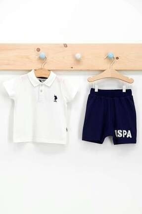 U.S. Polo Assn. Erkek Bebek Krem Dik Yaka T-shirt Takım