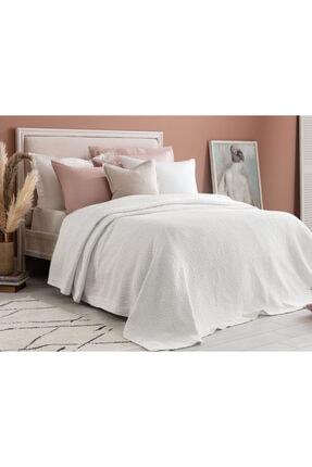 Madame Coco Eugenia Çift Kişilik Yatak Örtüsü - Beyaz